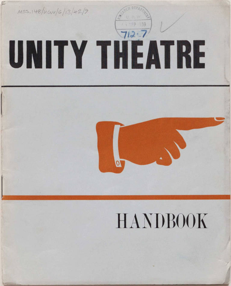 Unity Theatre handbook - The Archive Vault - Warwick Digital